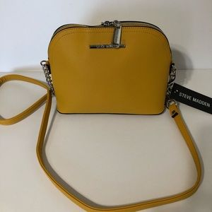 Authentic Steve Madden Dome Purse Mustard NWT